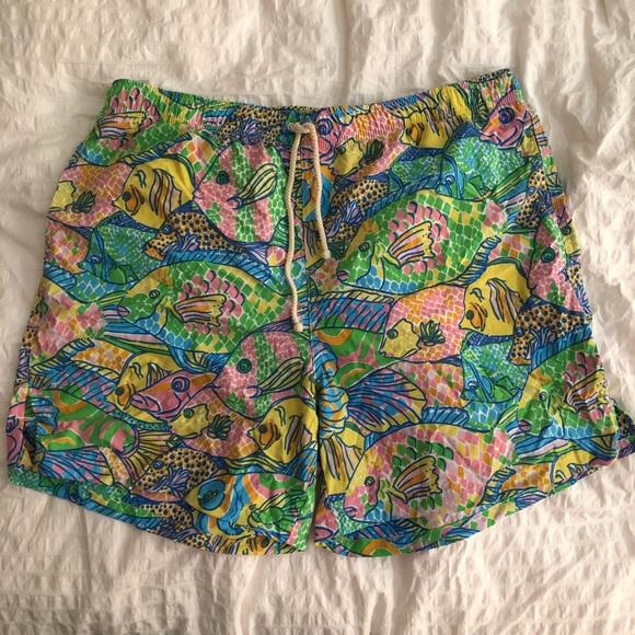 eeae9e7c04 Lilly Pulitzer Accessories | Euc Mens Stuff Party School Swim Trunks ...